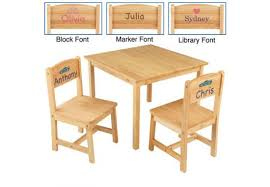 Kids Personalized Chairs Aspen Kids Table And Chair Set U2013 Natural Personalized Cool Kids