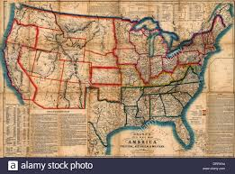 Map Of America by Bacon U0027s Steel Plate Map Of America Political Historical