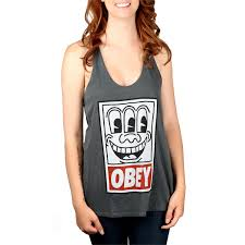 obey clothing obey clothing keith haring tank top women s evo