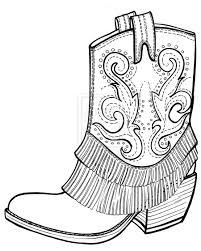 cowboy boot coloring page wallpaper download cucumberpress com