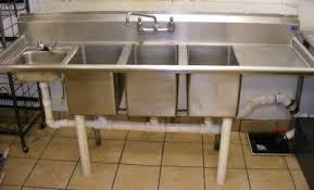 Lakehouse Bar  Grill Busiiness Liquidation Auction North - Three compartment kitchen sink