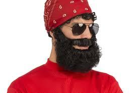 halloween costumes beards curly beard black brown grey hair mens biker halloween