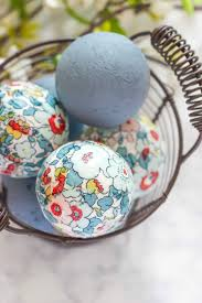 Easter Eggs Decorated With Paper Napkins by Floral Decoupage Decorative Balls