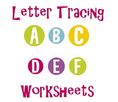 tracing letters uppercase a f