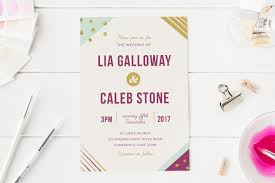 Wedding Invitations Cape Town Geometric Wedding Invitation Invitation Templates Creative Market