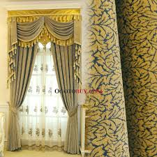 Gold Thermal Curtains Yellow Jacquard Chenille Thermal Custom Bedroom Curtains Without