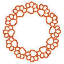 silhouette design store design 115557 paw print circle frame