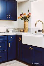navy blue kitchen cabinet design naval cabinets and gold hardware what kitchen dreams are