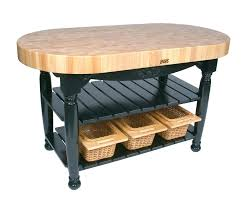 butcher block table on wheels john boos harvest table oval butcher block island butcher block