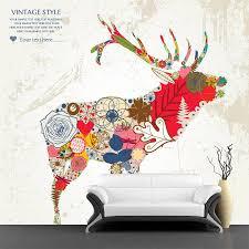 floral deer wall mural majestic wall art floral deer wall mural floral deer wall mural