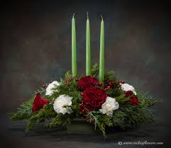 christmas holiday flowers candle centerpieces vickies flowers