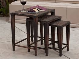 Outdoor Side Table Rattan Outside Side Table Shelby Knox