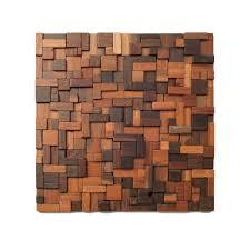 Wooden Wall Coverings Namaste Natural Mosaic Tiles Reclaimed Natural Wall Coverings