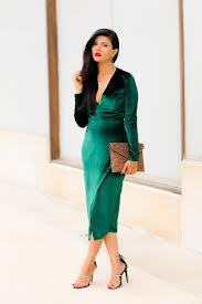 emerald green velvet plunge dress zunera u0026 serena