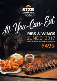 size matters offers unlimited ribs and wings spot ph