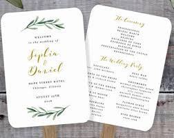 Rustic Wedding Program Fans Wedding Program Fan Template Printable Rustic Wedding Fan