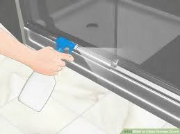 how to clean shower glass door how to clean shower doors 15 steps with pictures wikihow