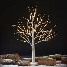 pre lit led decorative silver trees mailmarketplace