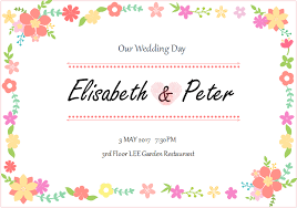 modele carte mariage modèles de carte d invitation de mariage gratuits à personnaliser