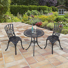 Cast Aluminum Patio Furniture Belleze 3pc Bistro Set Outdoor Patio Furniture Design Cast