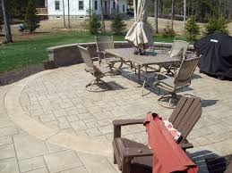 Concrete Patio Color Ideas by Stamped Concrete Patio With An Ashlar Slate Pattern Colors Beige