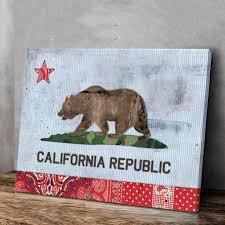California State Flag California Fabric State Flag La Culture Canvas Wall Artwork Ideas