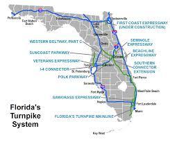 Florida City Map Maut In Den Usa U2013 übersicht Der Mautstraßen