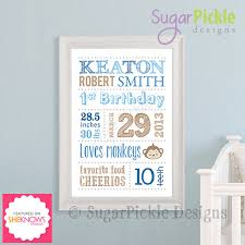 Personalized Nursery Decor Personalized Nursery Decor Wall Birth Announcement Baby