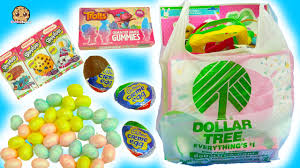 dollar tree store haul chocolate eggs easter painting crafts