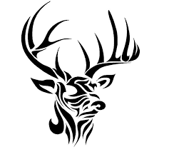 deer tribal decal search stencils
