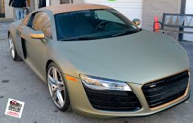 audi r8 wrapped gotshadeonline custom vehicle wraps tinting and paint protection