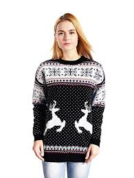 v28 women u0027s christmas reindeer snowflakes sweater pullover at