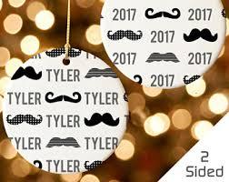 mustache ornament etsy