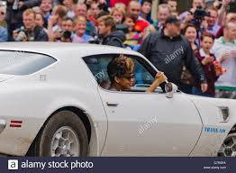 New Trans Am Car Rihanna In The Passenger Car Of A Trans Am Car During A Shoot For