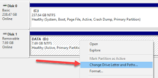 how to change a drive letter in windows