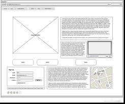 wireframe template example christmas pinterest wireframe