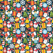 colorful pattern with decorative christmas elements vector free