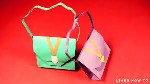 how to make a paper handbag simple and easy step by step paper