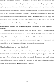 end of lease letter to landlord template georgia landlord tenant handbook pdf this means the landlord must give a tenant at will sixty 60