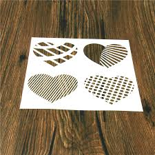 hearts cake stencil fondant template cake decorating mold frosting