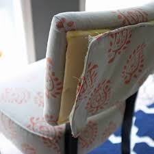 Recovering An Armchair Diy Upholstered Slipper Chairs With Velvet Drapery