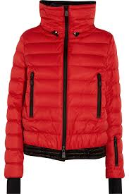 moncler grenoble vonne hooded quilted down jacket in red lyst