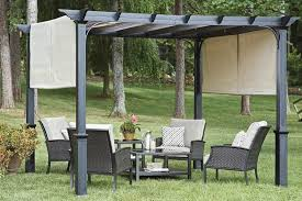 Pergola Canopy Ideas by Garden Treasures 10 U0027 Pergola Canopy With Ties Replacement Canopy
