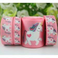 printed grosgrain ribbon hot sale 9 75mm custom unicorn printed grosgrain ribbon 9