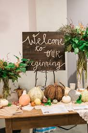 Welcome Table Rustic Weddings Ruffled