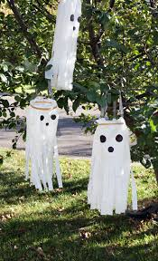 diy windsock ghosts u2013 plastic bag ghost craft u2013 diy halloween