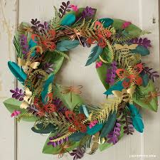 Paper Craft Home Decor Best 25 Paper Wreaths Ideas On Pinterest Flowers With Paper