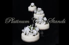 4 tier cake stand 4 tier clear spiral cascade wedding cake stand style