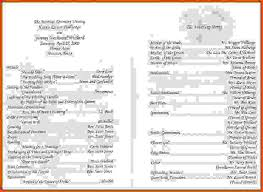 wedding program layouts wedding program sles sponsorship letter
