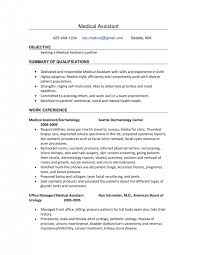 Summary For Medical Assistant Resume Cover Letter Surgical Assistant Duties Surgical First Assistant